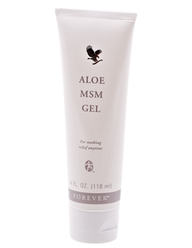 Aloe MSM Gel is a lovely massage gel with soothing, strengthening properties. Contains Aloe vera and MSM, the body's natural, organic sulphur.