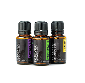 Forever Essential Oils Tri-Pak contains three exquisite, top-class essential oils in luxurious packaging.