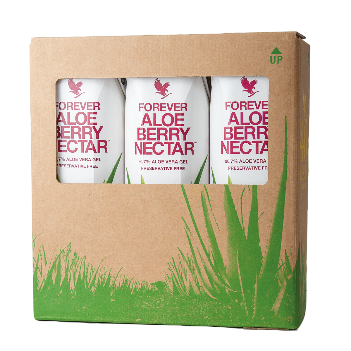 Forever Living Products' popular Aloe vera drink with vitamin C and cranberry and apple flavour, in eco-friendly packaging.